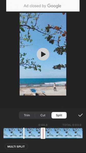 تقسیم ویدیو با اینشات